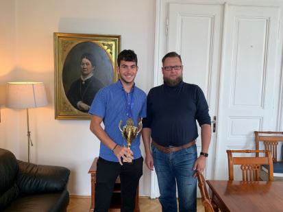 Starosta města poděkoval Šimonu Bambasovi za výbornou sportovní reprezentaci Příbrami
